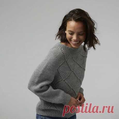 Пуловер-реглан Fraja Перевод Russa_N #мой_перев  Вяжется по кругу сверху вниз, что исключает большую отделочную работу. Размеры XS/S (M/L) ½ Окружности груди : 55 (65) см