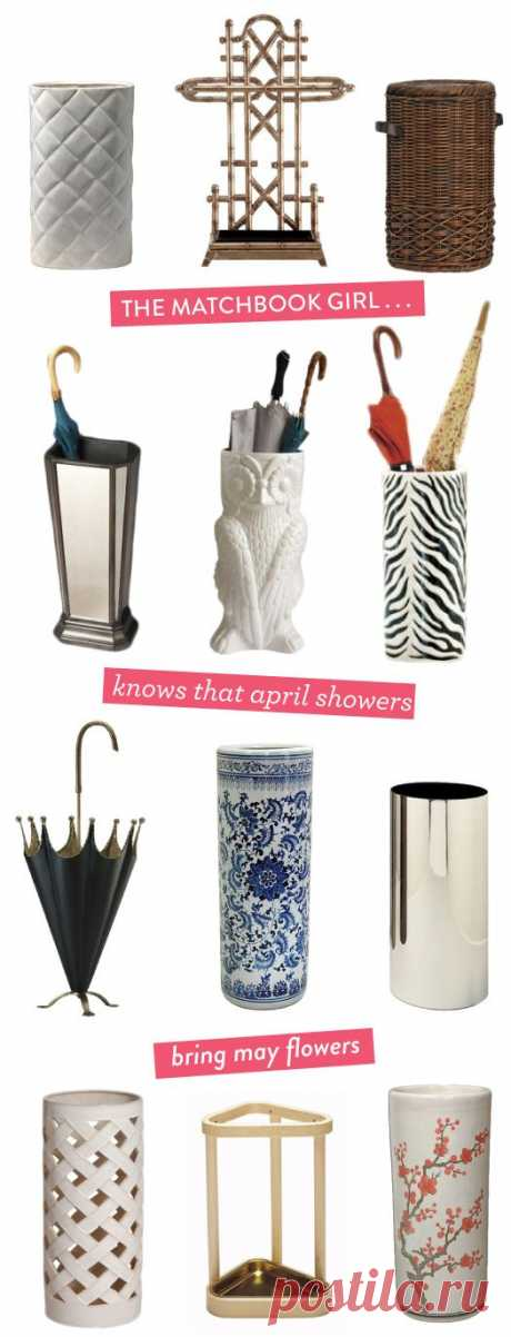 every classy entryway needs a chic umbrella stand.