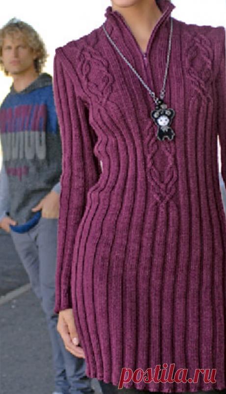 Полезные и простые идеи в вязании спицами пуловеров под верхнюю одежду. Модели пуловеров, жакетов, платье. | Ирина СНежная & Вязание | Яндекс Дзен