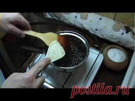 La caramelización (para el coñac de casa), el caramelo improvisado - YouTube