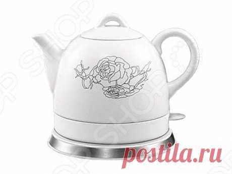 Чайник электрический Rolsen RK1008C с  цветком