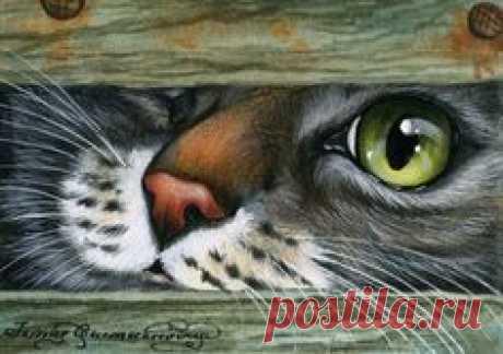Las gatas de la pintora Irina Garmashovoy. \/ Dekupazh \/ las estampas para dekupazha