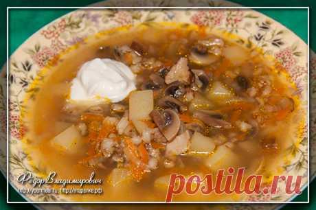 Грибной суп с перловкой | Домашние рецепты