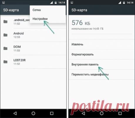 SD карта как внутренняя память Android | remontka.pro