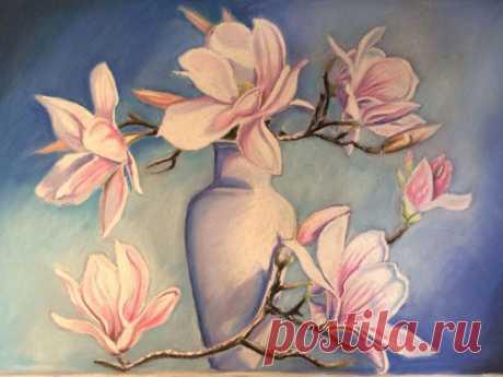 Рисуем сухой пастелью вазу с цветами — Сделай сам, идеи для творчества - DIY Ideas