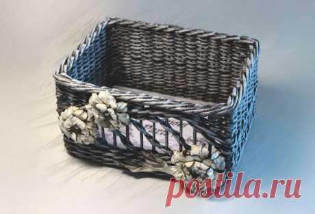МК «Плетёный винтажный короб» – HandMade39.ru