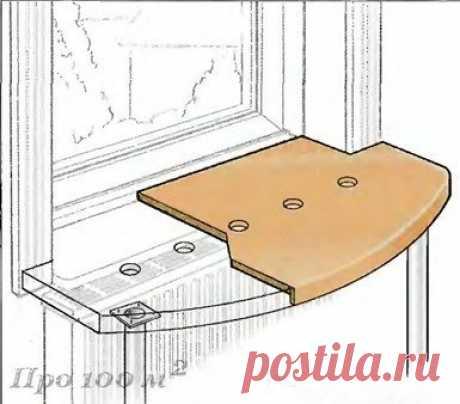 Подоконник-стол для небольших комнат — Сделай сам, идеи для творчества - DIY Ideas