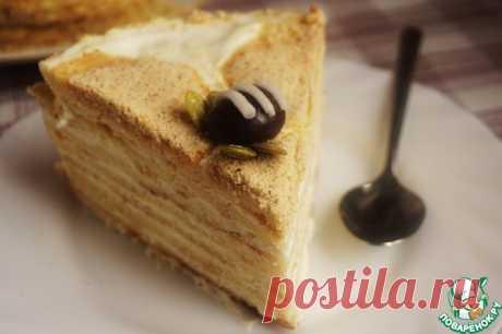 Медовик с коржами без меда Кулинарный рецепт