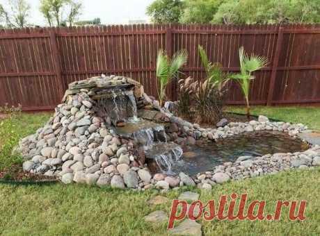 Как соорудить небольшой водопад на собственном участке или на даче