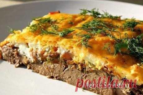 Рецепт приготовления куриной печени с сыром и овощами