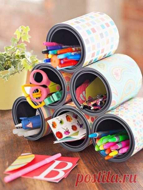 Креативные идеи из жестяных банок — Сделай сам, идеи для творчества - DIY Ideas