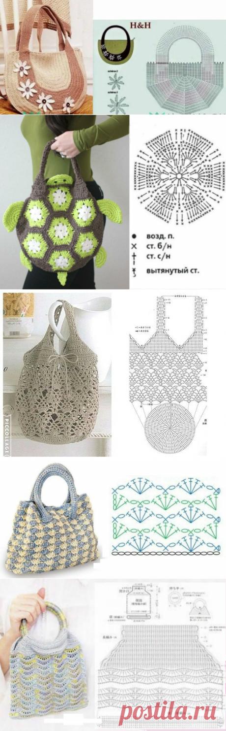 Отличная подборка - сумок, связанных крючком. Схемы,идеи для воплощения! | Юлия Жданова | Яндекс Дзен