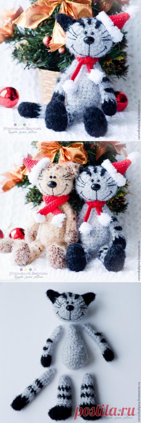 Новогодний кот Мурзик - Ярмарка Мастеров - ручная работа, handmade