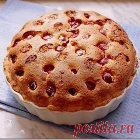 Самые проверенные рецепты - Творожный пирог с вишнями