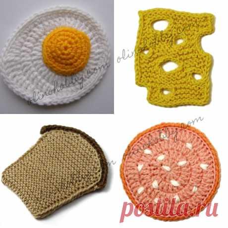 Crochet Food Breakfast - OlinoHobby