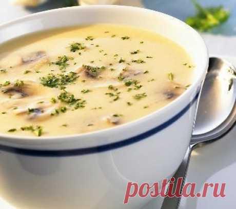 Грибной суп-пюре с сыром (100 гр - 116.30 ккал) — Мегаздоров