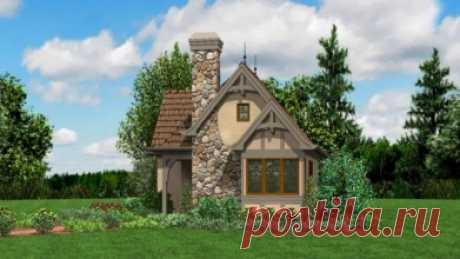 """Проект дома в сказочном стиле """"Гретхен-1"""" с красивой остроконечной крышей"""
