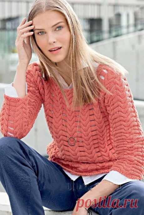 Джемперы спицами. Пуловеры спицами. Описания и схемы | Волшебные спицы | Яндекс Дзен
