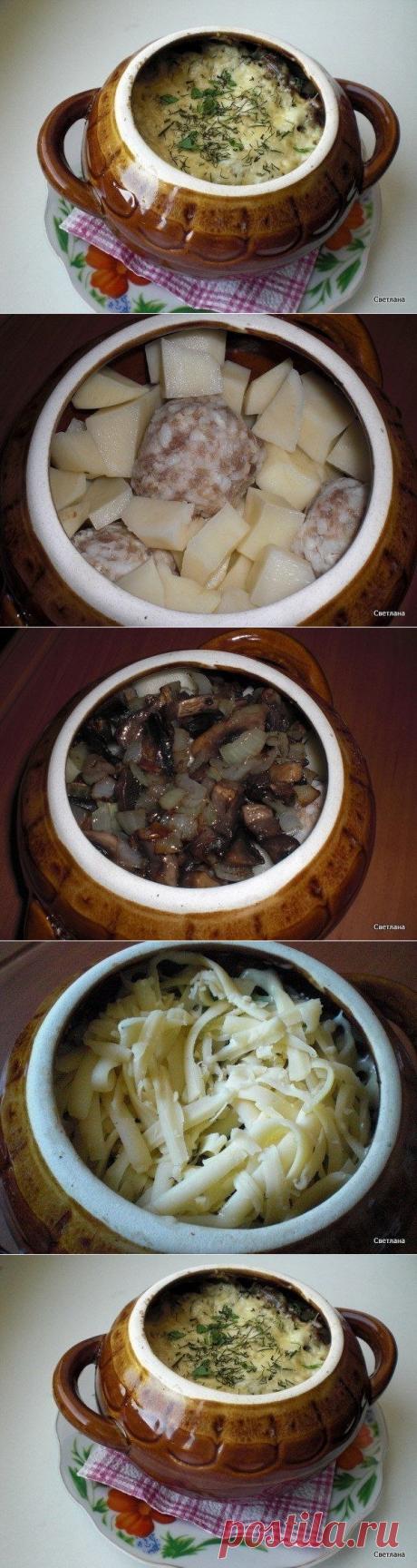 Как приготовить фрикадельки с картошкой и грибами под сыром  - рецепт, ингридиенты и фотографии