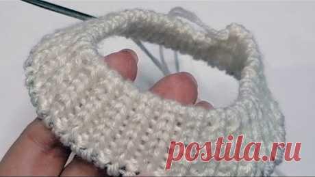 Эластичный набор петель спицами для резинки 1х1. Красивая резинка с фабричным краем простым способом