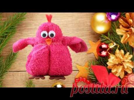 Петушок из полотенца, Новогодний МК - YouTube