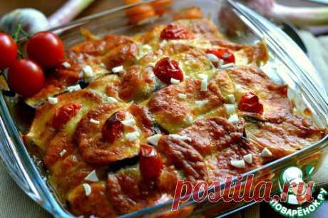Запеченные баклажаны с куриным мясом - кулинарный рецепт