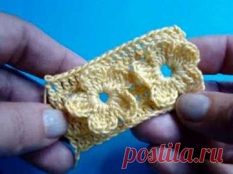 """We begin to knit – Video knitting lessons\"""" the CHEERFUL SQUARE – a master class – knitting by a hook"""
