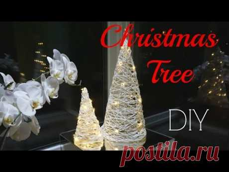 How to make a decorative fir-tree of threads