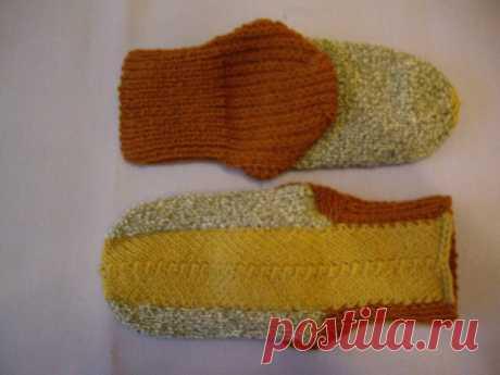 Новый интересный вариант вязания носочков на 2 спицах.