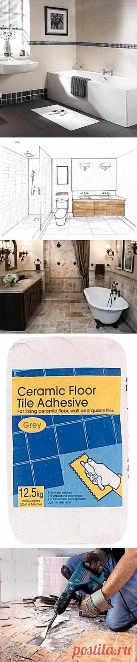 Ремонт ванной комнаты своими руками от А до Я