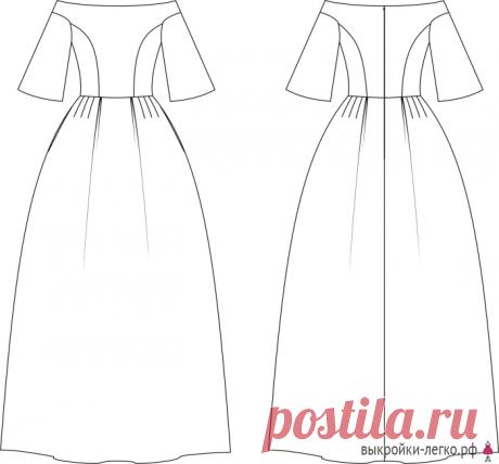 Выкройка торжественного платья (р-р 36-52) | Шить просто — Выкройки-Легко.рф