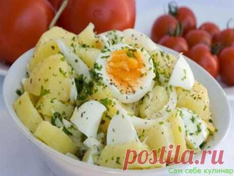 Салат картофельный с яйцами