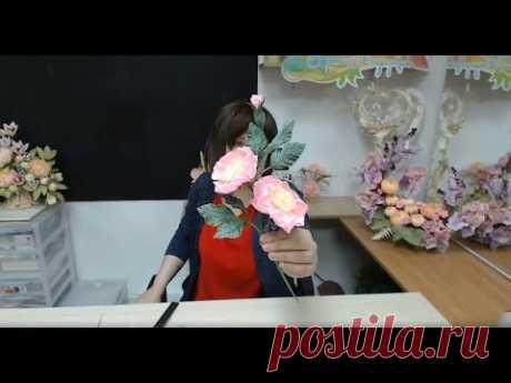 Бесплатный мастер-класс «Дикая роза», бумажная флористика. Мастер Наталья Дроздова.