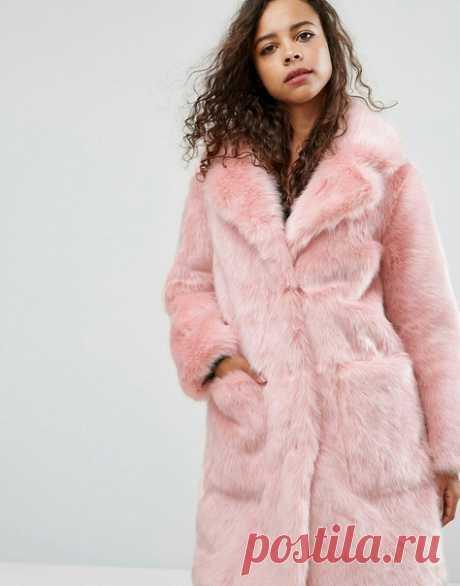 Актуальное ретро. Пальто из искусственного меха, прямого силуэта, с отложным воротником, выкройка на размер 48 (рос.). Подборка фото Шитье | простые выкройки | простые вещи #простыевыкройки #простыевещи #шитье #пальто #шуба #искусственныймех #ретро #выкройка