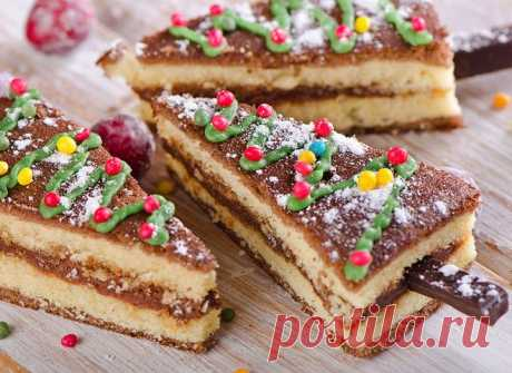 Новогодний торт «Еловый лес»