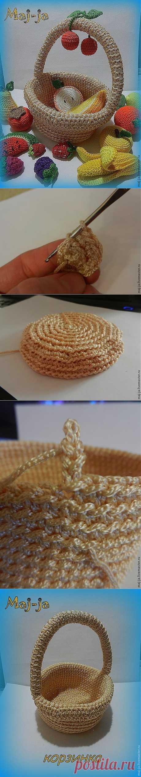 Мастер-класс: вязаная крючком корзинка - Ярмарка Мастеров - ручная работа, handmade