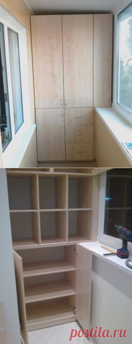 TOP of 27 ideas how to make lockers on the BALCONY. Master class