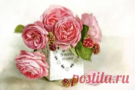 Букет цветов — что может быть чудесней, нежней что может и желанней быть!? Фотонатюрморты от Лиззи Пе (Lizzy Pe).