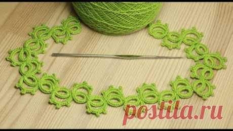 Ленточное кружево фриволите вязаное крючком мастер класс - crochet lace