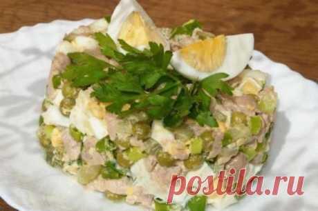 7 салатов с горошком на каждый день
