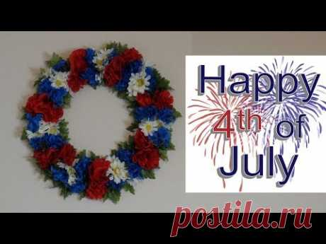 DIY: 4th of July Wreath made out of Dollar Store Items