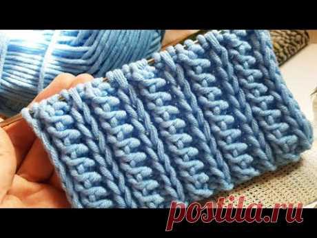 Ещё один сказочный узор спицами 💃 knitting pattern.