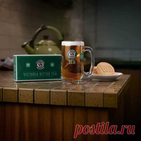 Чай со вкусом пива Производители популярного австралийского пива Victoria Bitter выпустили ограниченную партию VB Tea, в котором сочетаются цейлонский черный чай и хмель