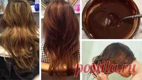 Натуральная краска своими руками для мгновенного создания каштановых волос! | Красотулька | Яндекс Дзен