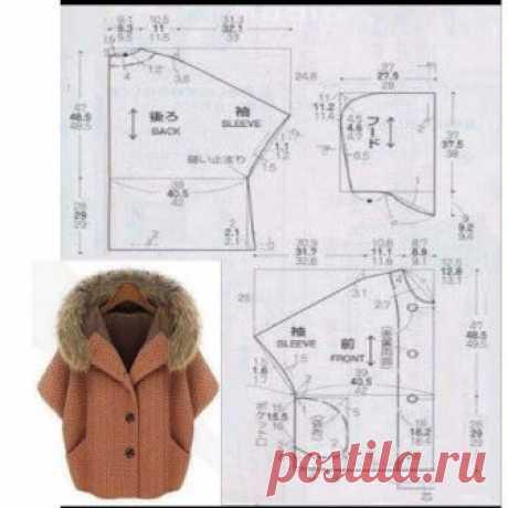 """Выкройка """"круглого"""" пальто Модная одежда и дизайн интерьера своими руками"""