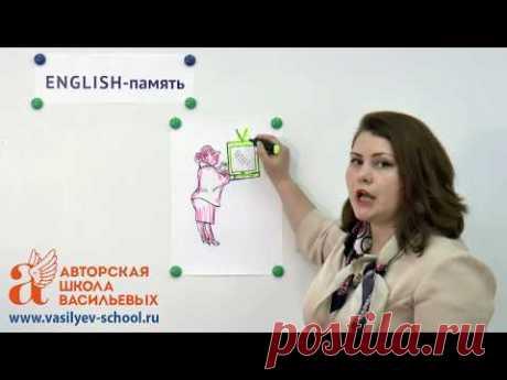Как легко выучить английский за 2 месяца. Пример 10 слов за 2 минуты! (Авторская Школа Васильевых)