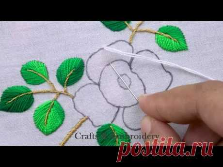 Amazing Hand Embroidery - Super Easy Flower Embroidery Tutorial for Beginner - Basic Flower Stitches