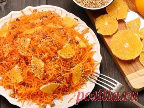 На скорую руку: постный салат из моркови с апельсинами