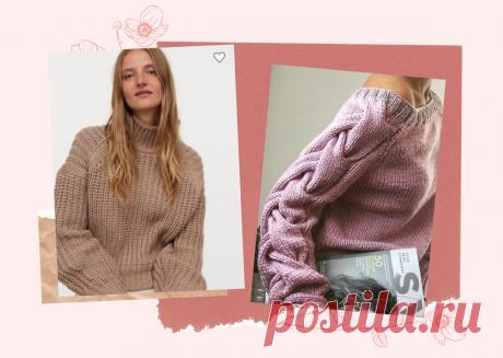 Почему реглан сверху по кругу постепенно сдает свои позиции - модные тенденции 2021 | Вязалушка | Яндекс Дзен