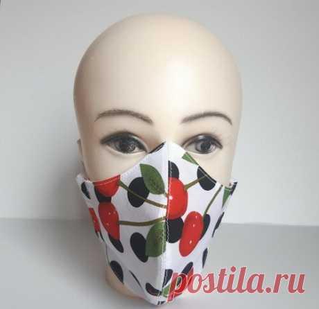 Сшила себе маску с фильтром, которая максимально плотно прилегает к лицу, домашним идея понравилась (выкройка) | модница |  Есть чертёж выкройки!!